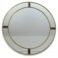 Berlin Art Deco Style Round Decorative Large Size 40cm Leaded Wall Mirror design