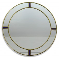 Berlin Art Deco Style Round Decorative Medium Size 30cm Wall Mirror