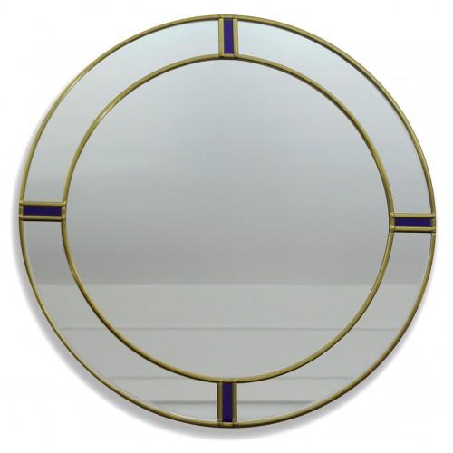 Berlin Round glass wall mirror, 30cm Diameter, Made using Gold ...