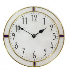 30cm Round Leaded Purple Berlin Style Wall Clock