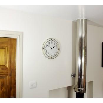 30cm Round Leaded Purple Berlin Style Wall Clock