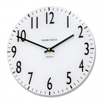 Round Black and White Euston Acrylic Glass Kitchen 25cm Wall Clock