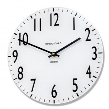 Round Black and White Euston Acrylic Glass Kitchen 25cm Wall Clock