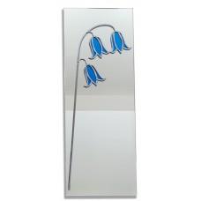 Bluebell Art Nouveau Style 40 x 15cm Leaded Glass Rectangular Wall Mirror