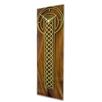 Celtic Rope Leaded Bronze and Gold Large Rectangle Wall Clock Design