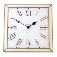 Classico Art Deco style 30cm Square Gold Leaded Acrylic Glass Wall Clock