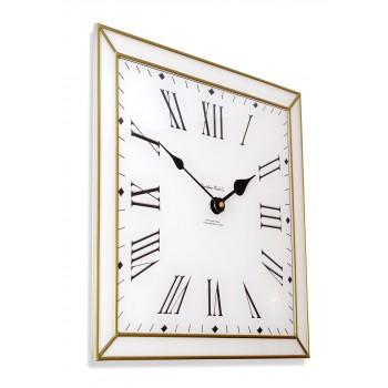 Classico Art Deco style 30cm Square Gold Leaded Acrylic Glass Wall Clock