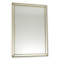 Classico Art Deco style 33 x 48cm Rectangular Gold Leaded Mirror Design