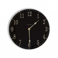 Round Satin Black and Cream Coloured Acrylic Glass Kitchen Wall Clock