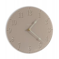 Round soft Coffee Coloured Acrylic Glass Kitchen Wall Clock