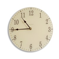 Round Soft Cream and Chocolate Coloured Acrylic Glass Kitchen Wall Clock