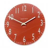 Round Classic Red Euston Acrylic Glass Kitchen Wall Clock