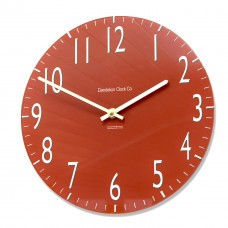 Round Classic Red Euston Acrylic Glass Kitchen Wall Clock