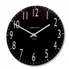 Round Black Euston Acrylic Glass Kitchen Wall Clock