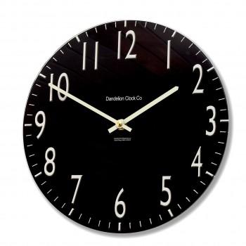 Round Black Euston Acrylic Glass Kitchen Wall Clock