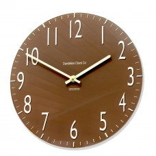 Round Chocolate Coloured Euston Acrylic Glass Kitchen Wall Clock