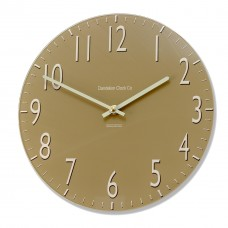 Round Coffee Coloured Euston Acrylic Glass Kitchen Wall Clock