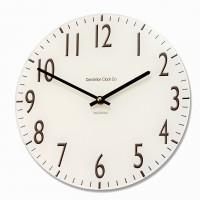 Round Cream Euston Acrylic Glass Kitchen Wall Clock