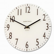 Round Cream Euston Acrylic Glass Kitchen Wall Clock