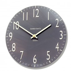 Round Slate Grey Euston Acrylic Glass Kitchen Wall Clock