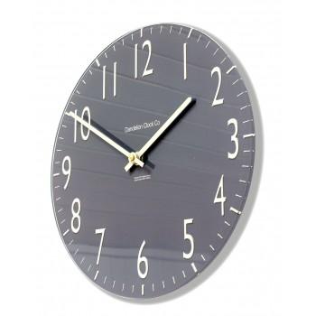 Round Slate Grey Euston Acrylic Glass Kitchen Wall Clock