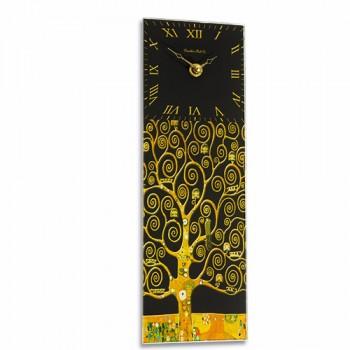 Gustav Klimt Tree of Life Retro Rectangular Kitchen Wall Clock 10 x 32cm