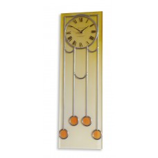 Art Deco Manhattan Leaded Rectangular Wall Clock in Antique Gold look