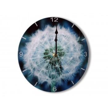 The Original Dandelion Clock Modern Round Acrylic Glass Medium Kitchen Wall Clock 25cm