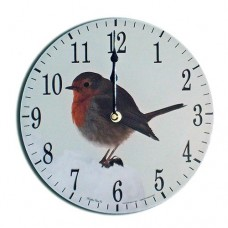 Robin Modern Round Acrylic Glass Medium Kitchen Wall Clock 25cm dia