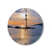 Sunset Contemporary Round Acrylic Glass Medium kitchen Wall Clock 25cm dia