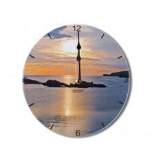 Sunset Contemporary Round Acrylic Glass Medium kitchen Wall Clock 25cm dia