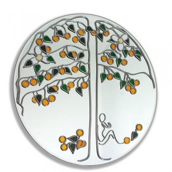 The Orange Tree Round Leaded 40cm Wall mirror