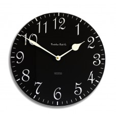 30cm Round Black and Cream Wall Clock