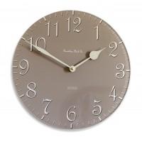 30cm Round Coffee and Cream Wall Clock