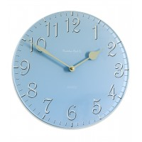30cm Round Pacific Blue and Cream Wall Clock