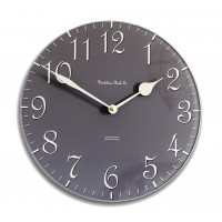 30cm Round Slate Grey and Cream Wall Clock