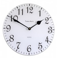 30cm Round White and Black Wall Clock