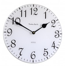 30cm Round White and Black Wall Clock