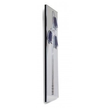 Art Deco/Nouveau Blue Harebell/Bluebell Design Leaded Rectangular Wall Mirror