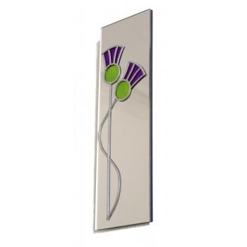 Art Deco/Nouveau Lovers Thistle Design Hand Made Leaded Medium Rectangular Wall Mirror
