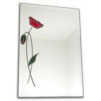 Classico Art Deco style 40cm Square Gold Leaded Glass Wall Mirror Design