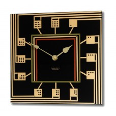 Square Mackintosh Inspired Domino Acrylic Glass Wall Clock 30 x 30cm