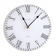 Round White Station Style Acrylic Glass Kitchen Wall Clock