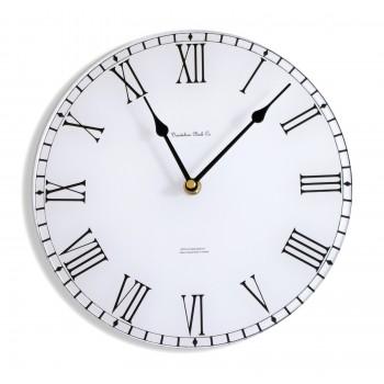 Round White Station Style Acrylic Glass Kitchen Wall Clock