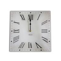 Square Retro Antique Roman style Acrylic Glass Large Kitchen Wall Clock 30 x 30cm