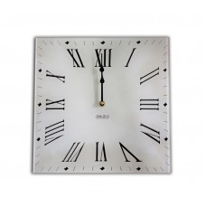Square Retro Antique Roman style Acrylic Glass Large Kitchen Wall Clock 30 x 30cm