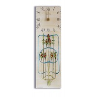 Art Deco/Nouveau Mackintosh Rosebuds Design Rectangular Kitchen Wall Clock 10 x 32cm