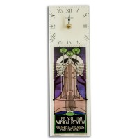 Art Deco Mackintosh Musical Review Retro Rectangular Kitchen Wall Clock 10 x 32cm