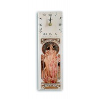 Art Deco Moet Champagne Retro Chic Design Rectangular Kitchen Wall Clock 10 x 32cm