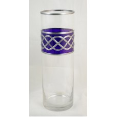Purple Celtic Rope Knot Decorative Leaded Stained Glass Round Flower Vase 30cm Tall